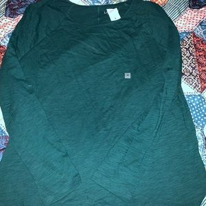Loft green long  sleeved medium top